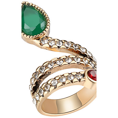 Mulheres Maxi anel Anel Cristal Zircônia cúbica Personalizada Luxo Original Clássico Vintage Rhinestone Boêmio Básico Turco Bijuterias