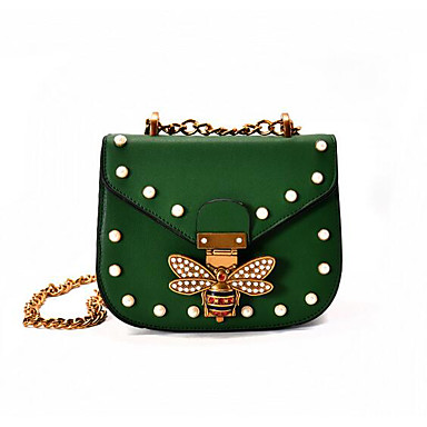 Women Bags All Seasons PU Shoulder Bag for Casual Outdoor Green White Red