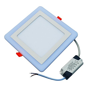 JIAWEN 18 W lm 90 LED gyöngyök Dekoratív Panel izzók Hideg fehér / Kék 85-265 V / 1 db.