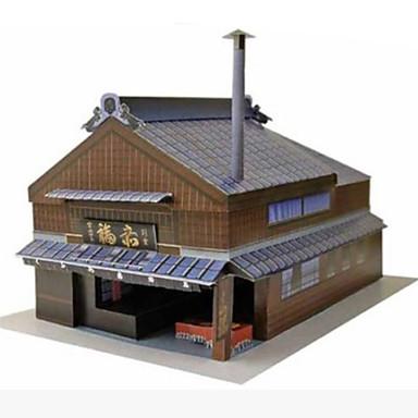 Quebra-Cabeças 3D Maquetes de Papel Artesanato de Papel Brinquedos de Montar Casa Faça Você Mesmo Cartão de Papel Duro Clássico Crianças