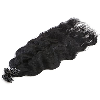 Fusion / U Tip Human Hair Extensions Natural Wave Women's Daily