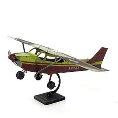 3D Puzzles Jigsaw Puzzle Metal Puzzles Model Building Kit Plane / Aircraft 3D DIY Chrome Metal Classic 6 Years Old and Above
