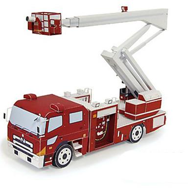 voordelige 3D-puzzels-Speelgoedauto's 3D-puzzels Bouwplaat Brandweerwagens DHZ Hard Kaart Paper Klassiek Brandweerwagen Kinderen Unisex Jongens Speeltjes Geschenk