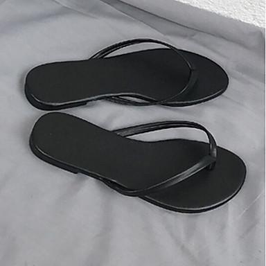 Naiset Sandaalit Comfort PU Kevät Kausaliteetti Comfort Kulta Musta Harmaa Tasapohja