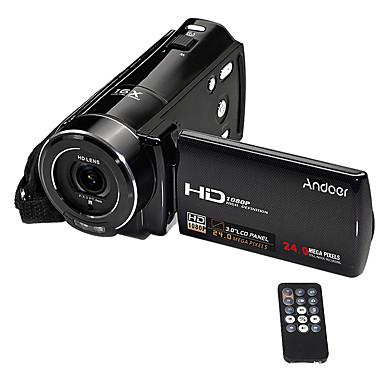 Camcorder da câmera de vídeo digital hdv-v7 1080p andoer®hdv-v7 max. Zoom digital de 24 mega pixels 16 com tela rotativa 3.0 lcd