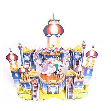 3D Puzzles Jigsaw Puzzle Paper Model Model Building Kit Castle House Architecture 3D DIY High Quality Paper Classic Kid's Girls' Boys'