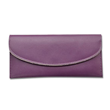 Women Checkbook Wallet Cowhide All Seasons Casual Rectangle Magnetic Black Purple Earth Yellow