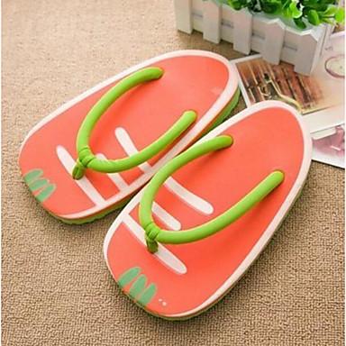 Women's Slipper & Flip-Flop Comfort Summer Canvas Casual Red Flat