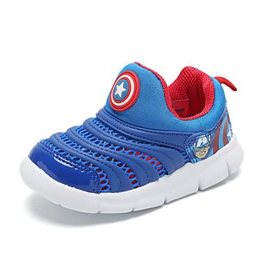 Para Meninos sapatos Tule Primavera Verão Solados com Luzes Conforto Mocassins e Slip-Ons Caminhada para Casual Ao ar livre Vermelho Azul