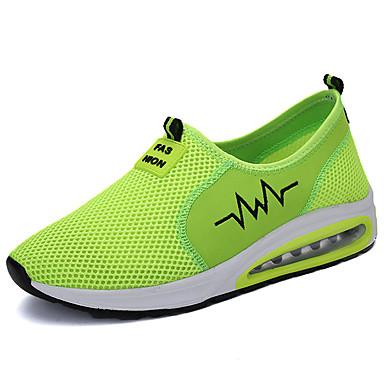 Homens sapatos Tule Primavera Outono Conforto Mocassins e Slip-Ons Caminhada para Casual Cinzento Verde Azul