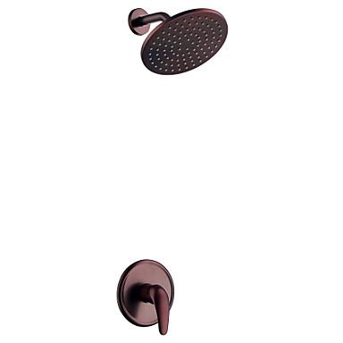 Shower Faucet Oil-rubbed Bronze Shower Only Ceramic Valve / Brass
