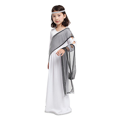 Fairytale Goddess Cosplay Cosplay Costumes Party Costume Kids Halloween Carnival Festival / Holiday Halloween Costumes White Vintage
