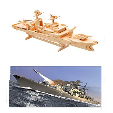3D építőjátékok Fejtörő Wood Model Hadihajó Repülőgép-anyahajó Fa Repülőgép-anyahajó Gyermek Uniszex Ajándék