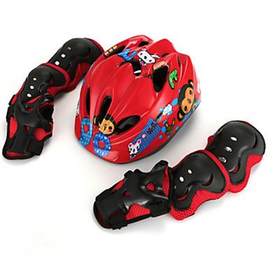 Dětské Helma na skate Chrániče na kolena, lokty a zápěstí Ochranná sada pro Lyže Brusle Cyklistika / Kolo Kolečkové brusle Inline brusle