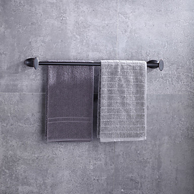 Barra para Toalha Alta qualidade Moderno / Contemporâneo Metal 1 Pça. - Banho do hotel Bar de 2 torres Montagem de Parede