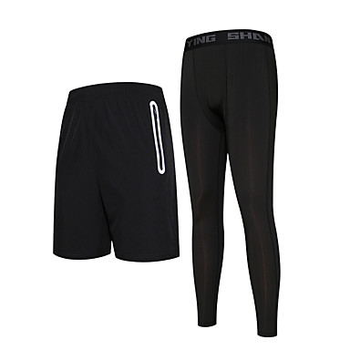 Men's Running Pants Quick Dry Running Compression Bottoms Running/Jogging Exercise & Fitness Basketball Tight Black