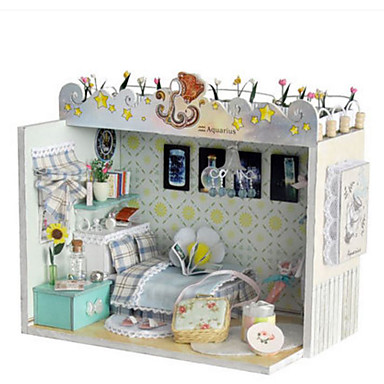 Model Building Kit DIY House Natural Wood Classic Pieces Unisex Gift