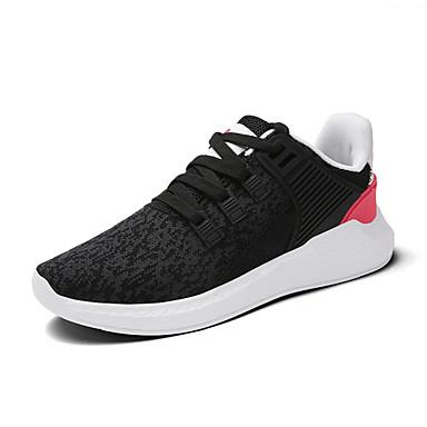 Miesten kengät Tyll Kevät Kesä Valopohjat Comfort Lenkkitossut varten Kausaliteetti ulko- Valkoinen Musta Musta/punainen