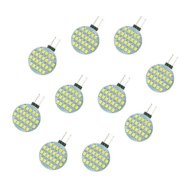 10pçs 2.5W 189 lm G4 Luminárias de LED  Duplo-Pin 24 leds SMD 2835 Branco Quente Branco DC 12V