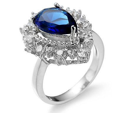 Women's Ring Settings Ring Band Ring Cubic Zirconia Rhinestone Personalized Luxury Geometric Unique Design Classic Rhinestone Basic