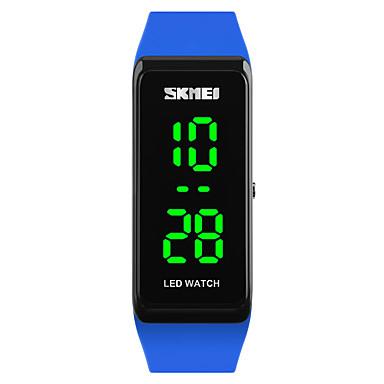 baratos Relógios Senhora-SKMEI Mulheres senhoras Relógio Esportivo Relógio de Pulso Relogio digital Japanês Digital Couro PU Acolchoado Preta / Azul / Vermelho 30 m Impermeável Calendário Luminoso Digital Fashion - Vermelho