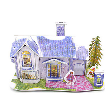 3D Puzzles Model Building Kit House Architecture DIY High Quality Paper Classic Unisex Gift