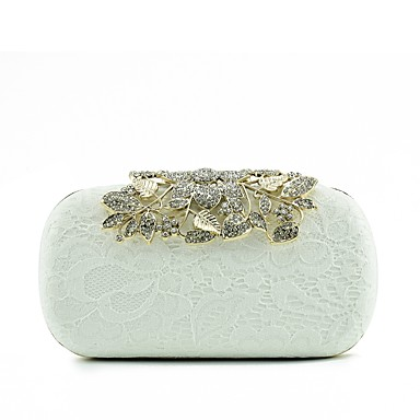 Women's Bags Silk Evening Bag Lace Silver / Red / Yellow / Wedding Bags