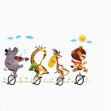 Landscape Animals Sports Wall Stickers Plane Wall Stickers Decorative Wall Stickers, Paper Vinyl Home Decoration Wall Decal Wall Window