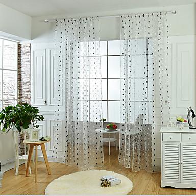 Sheer Curtains Shades Sala de Estar Bordado Bordado