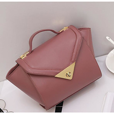 Women Bags All Seasons PU Shoulder Bag for Casual Outdoor Chocolate Black Red