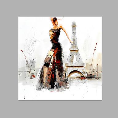 Maalattu Ihmiset Neliö, Abstrakti Kangas Hang-Painted öljymaalaus Kodinsisustus 1 paneeli