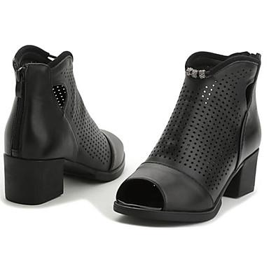 Dame Sko Lær Sommer Komfort Sandaler Til Avslappet Svart
