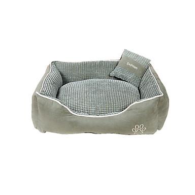 Manter Quente Macio Roupas para cães Camas Xadrez Café Verde Khaki Gato Cachorro