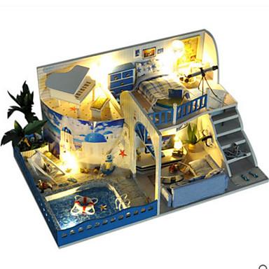 voordelige 3D-puzzels-Modelbouwsets Houten modellen DHZ Huis Kunststoffen Puinen Klassiek Kinderen Unisex Speeltjes Geschenk