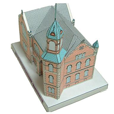 voordelige 3D-puzzels-3D-puzzels Bouwplaat Modelbouwsets Kasteel Beroemd gebouw Kerk (83 DHZ Klassiek Cartoon Kinderen Unisex Jongens Speeltjes Geschenk