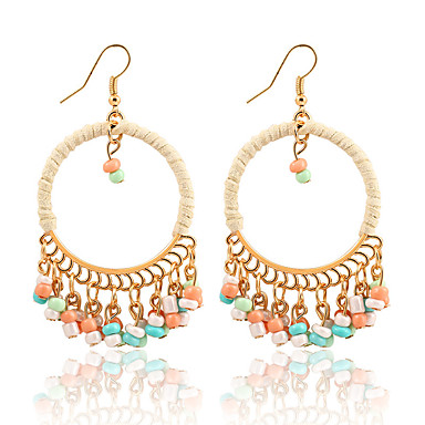 70328619c7e Women s Beads Drop Earrings Resin Earrings Ladies Dangling Tassel Vintage  Bohemian Fashion Jewelry Red   Green   Rainbow For Christmas Christmas  Gifts ...