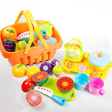 Conjuntos Toy Cozinha Pratos Toy & Tea Sets Comida de Brinquedo Brinquedos de Faz de Conta Brinquedos Comida Fruta realista Segura Para