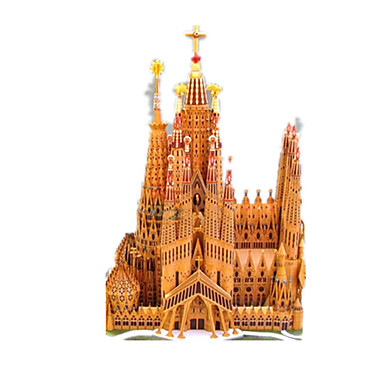 3D-puslespill Papirmodell Papirkunst Modellsett Kjent bygning Kirke Arkitektur Katedral GDS Klassisk Unisex Gave