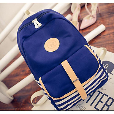 Women's Bags Canvas Backpack for Casual All Seasons Blue Green Black