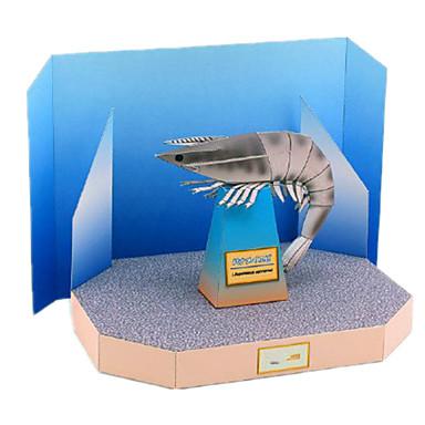 voordelige 3D-puzzels-3D-puzzels Bouwplaat Modelbouwsets garnaal DHZ Simulatie Hard Kaart Paper Klassiek Kinderen Unisex Speeltjes Geschenk