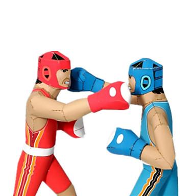 Quebra-Cabeças 3D Maquetes de Papel Artesanato de Papel Brinquedos de Montar Boxe Concorrência Faça Você Mesmo Cartão de Papel Duro