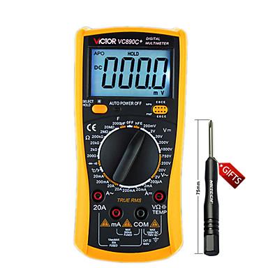 victor digitale veelzijdige digitale multimeter met achtergrondverlichting automatische uitschakeling condensator temperatuur tabel