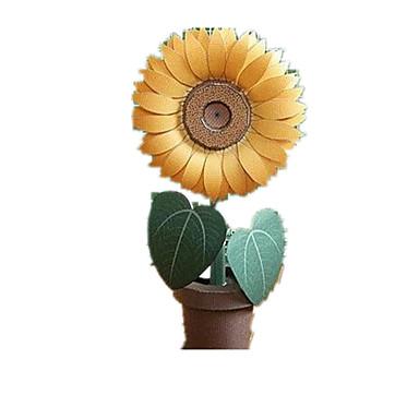 Quebra-Cabeças 3D Quebra-Cabeça Artesanato de Papel Brinquedos de Montar Sol Spot de Luz Multi-Colorida Flor Simulação Artigos de