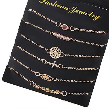 Women's Cubic Zirconia Chain Bracelet - Zircon, Silver Plated Cross, Friends, Flower Fashion Bracelet Gold For Christmas Gifts / Wedding / Party