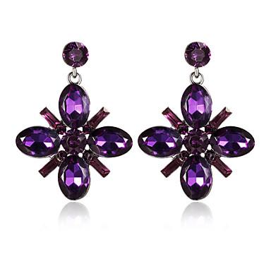 Women's Drop Earrings Crystal Personalized Geometric Circular Dangling Style Classic Vintage Bohemian Circle British Elegant Euramerican