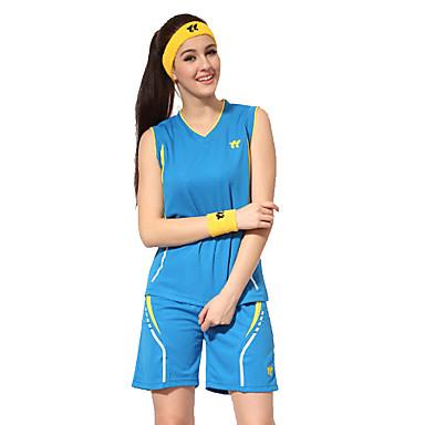 Women's Sleeveless Basketball Clothing Suits Shorts Wearproof Sports