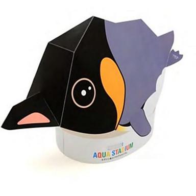 voordelige 3D-puzzels-Halloweenmaskers Bouwplaat Modelbouwsets Papierkunst HardKaart Paper Klassiek DHZ Pinguïn Horrorthema Kinderen Unisex