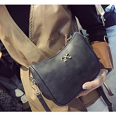 Women Bags All Seasons PU Polyester Shoulder Bag for Casual Outdoor Black Brown Dark Grey