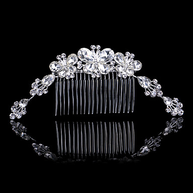 Rhinestone / Alloy Hair Combs / Hair Tool with 1 Wedding / Special Occasion / Anniversary Headpiece