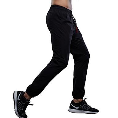 Herre Joggebukser Fitness, Løping & Yoga Fort Tørring Pustende Bukser Trening & Fitness Løp Svart